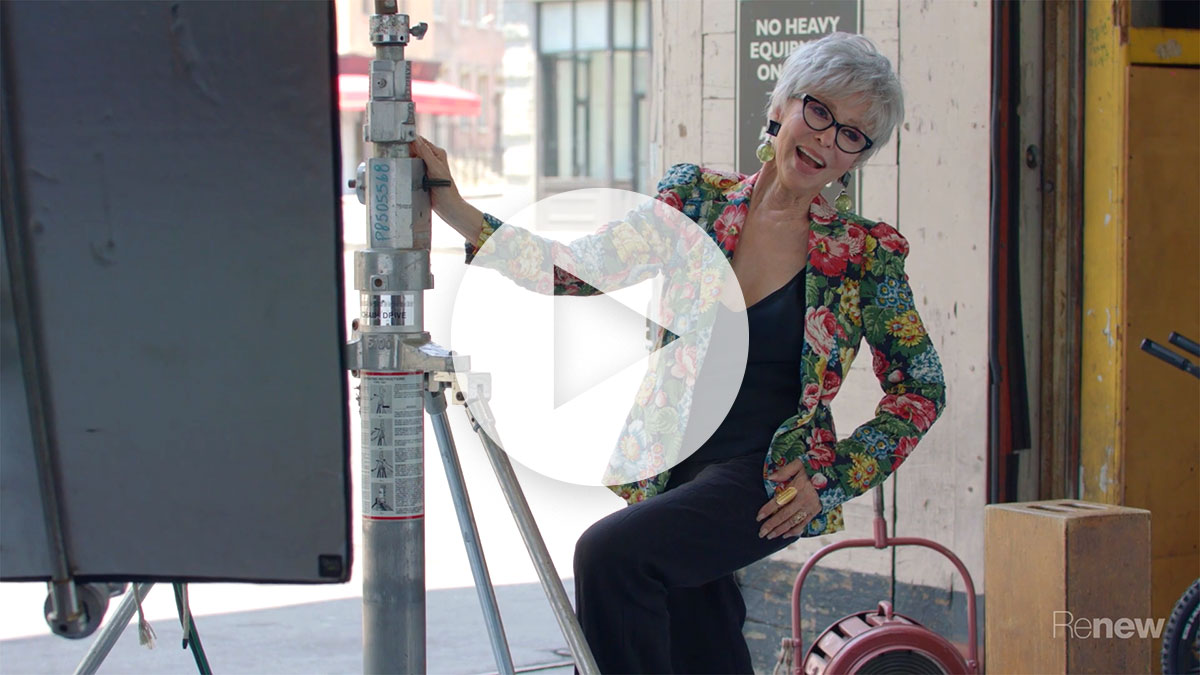 Behind the Scenes: Rita Moreno for Renew Magazine