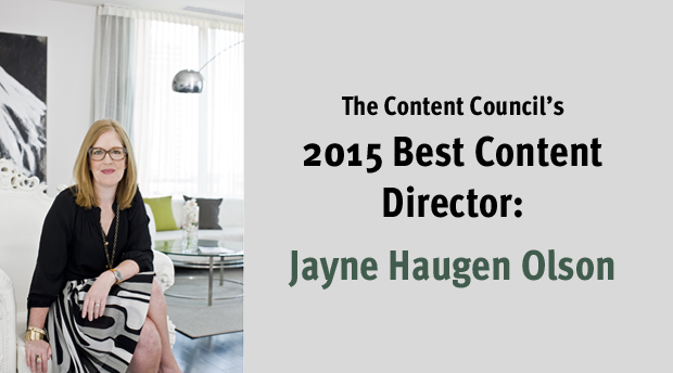 Jayne Haugen Olson Wins 2015 Best Content Director