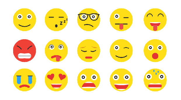 Emoji smiling faces of all types